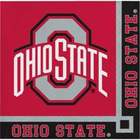 Ohio State University Paper Beverage Napkins 20 Count for 10 Guests