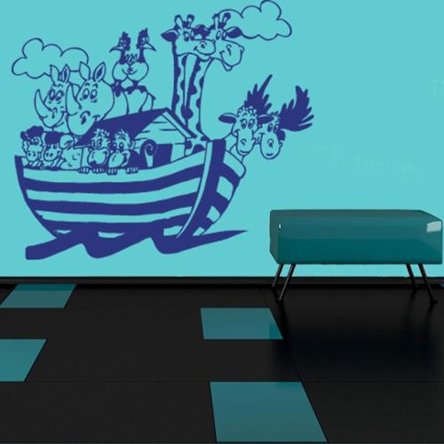 Style and Apply Noah's Ark Wall Decal