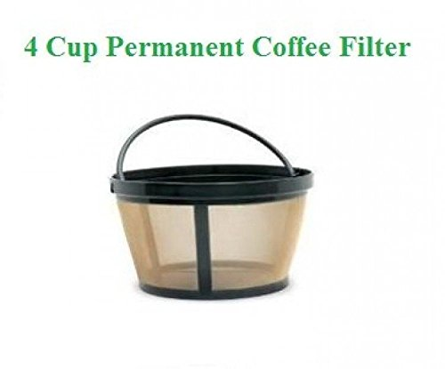 4-Cup Basket Style Permanent Coffee Filter fits Mr. Coffee 4 Cup Coffeemakers