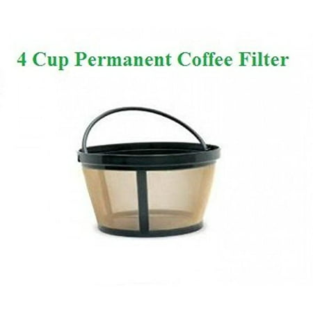 4-Cup Basket Style Permanent Coffee Filter fits Mr. Coffee 4 Cup (Mr Coffee Clean Light Wont Go Off)