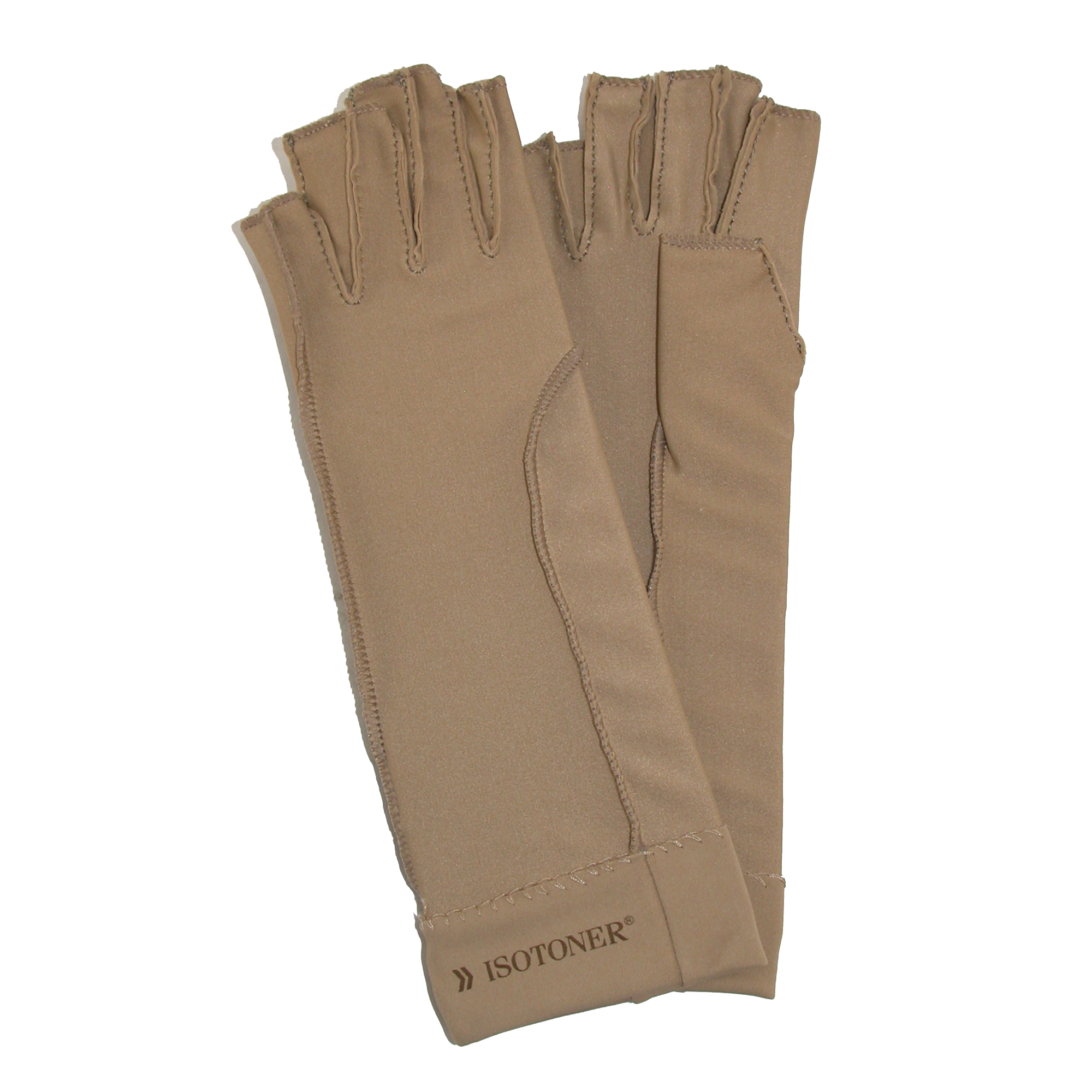 Isotoner Therapeutic Compression Fingerless Gloves (Pack ...