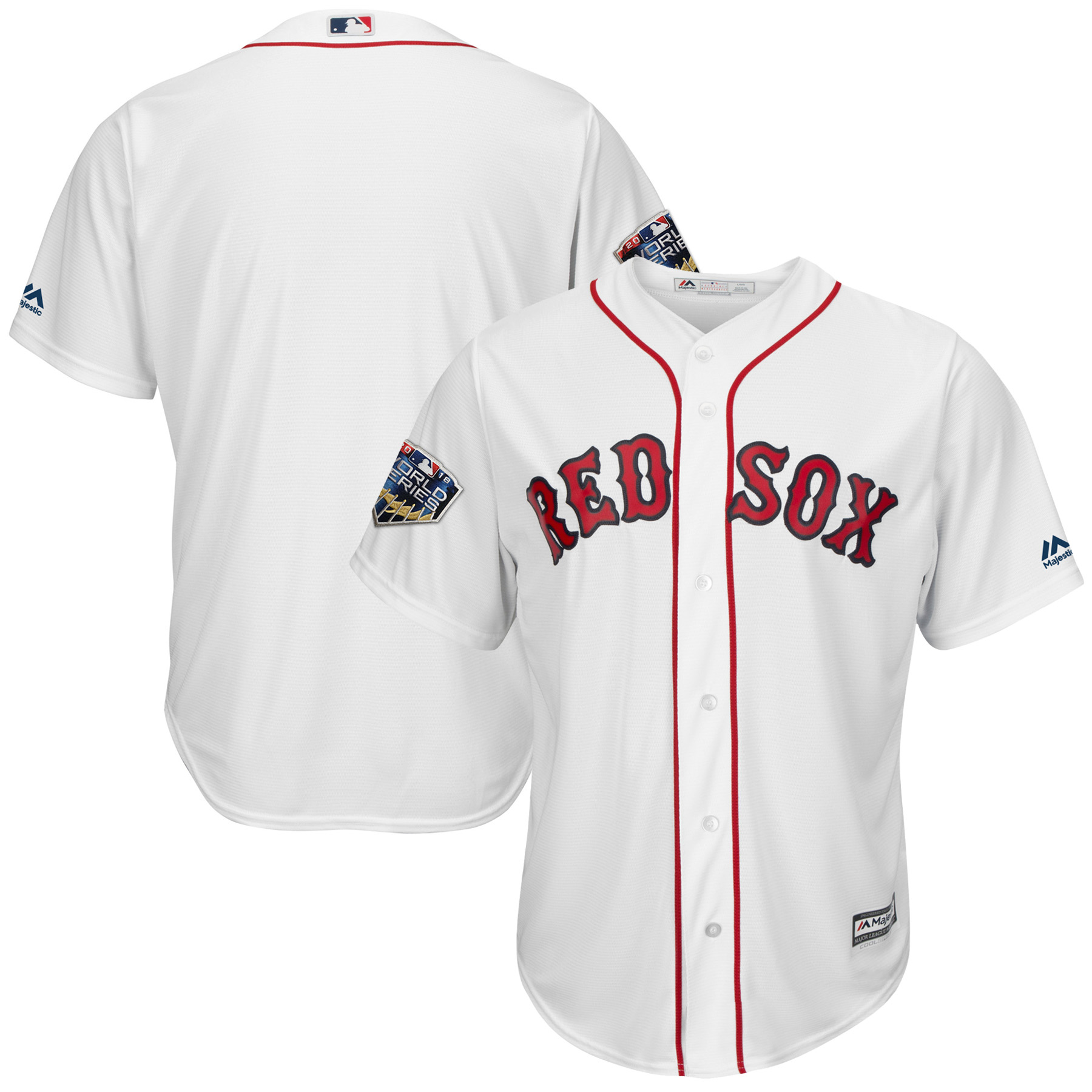 Boston Red Sox Majestic 2018 World Series Cool Base Team Jersey - White