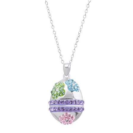 Crystal Egg Pendant - Luminesse Easter Egg Pendant Necklace with Swarovski Crystals