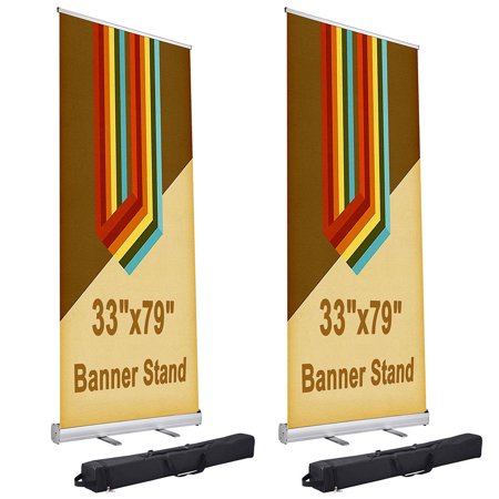 "Yescom 33"" x 79"" Retractable Roll Up Banner Stand Trade Show Display Promotion Sign Holder with Carry Bag"