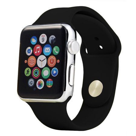 62bc2430cc54a7 Impressive Trends - Soft Silicone Sport Replacement Bands for Apple Watch  Series 1, Series 2, Series 3 38MM - Walmart.com
