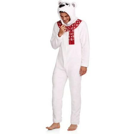 7108ffd1c660 Onesie - Winter Polar Bear Onesie Hooded Pajama - Walmart.com