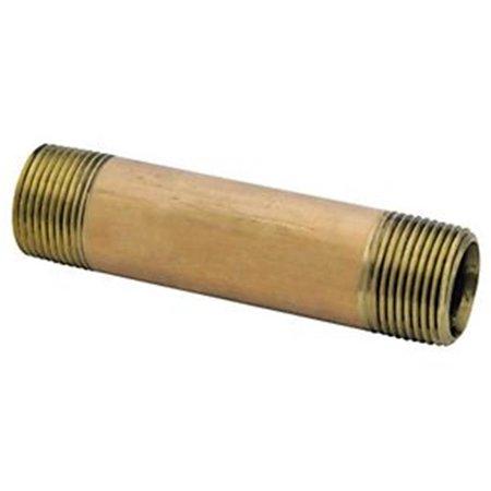 Anderson Metal 6554885 38300-1230 0.75 x 3 Pipe Nipple Brass Brass Classic 3' Center