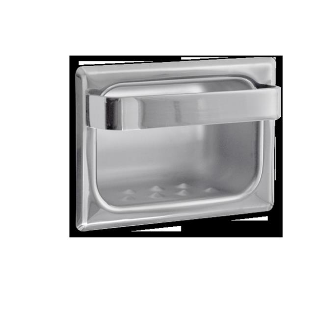 AJW UX81-BF Bright Soap Dish With Wash Cloth Bar - Recessed