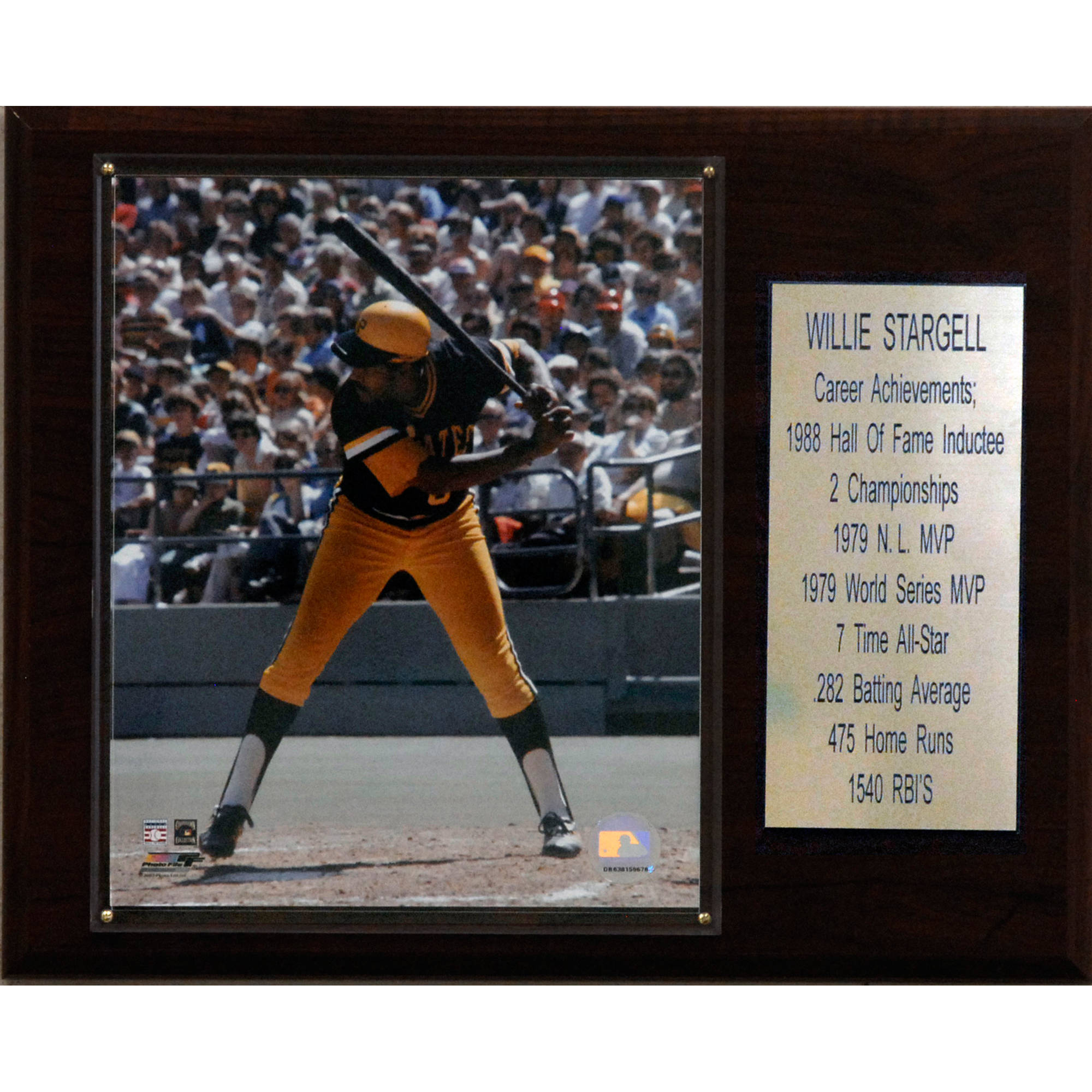 C&I Collectables MLB 12x15 Willie Stargell Pittsburgh Pirates Career Stat Plaque