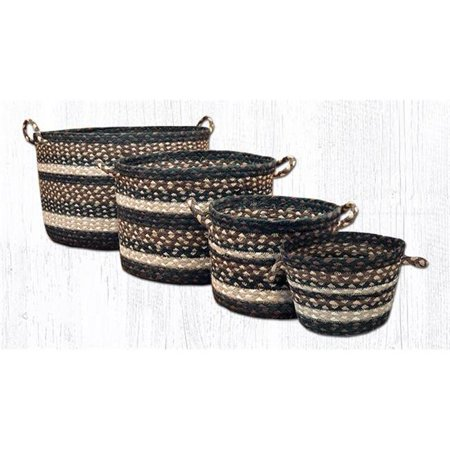 capitol importing 38-ubmn313 8 x 6 ft. braided utility basket, mocha & frappuccino