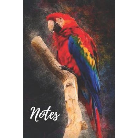 Parrot Notebook : cute parrots gift for bird and animal lovers (blank lined notebook) pets notepad for women / best for writing notes and ideas for home use, work or as a school homework book / journal for journaling / parrot
