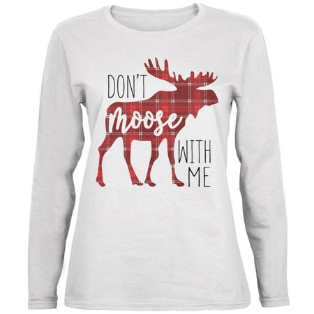 Female Moose - Autumn Don't Moose with Me Ladies' Relaxed Jersey Long-Sleeve Tee