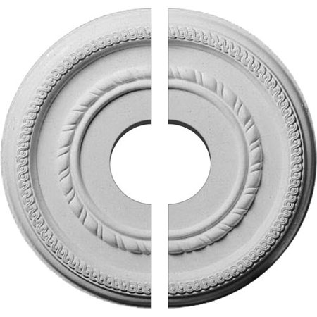 12 5/8u0022OD x 3 1/2u0022ID x 1 1/8u0022P Federal Roped Small Ceiling Medallion, Two Piece (Fits Canopies up to 6u0022)