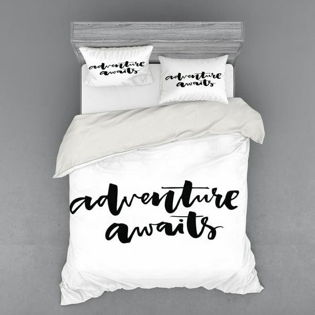 Adventure Duvet Cover Set, Travel Themed Twin Bedding