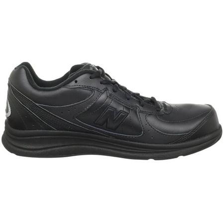New Balance WW577 Women D Round Toe Leather Black Walking Shoe
