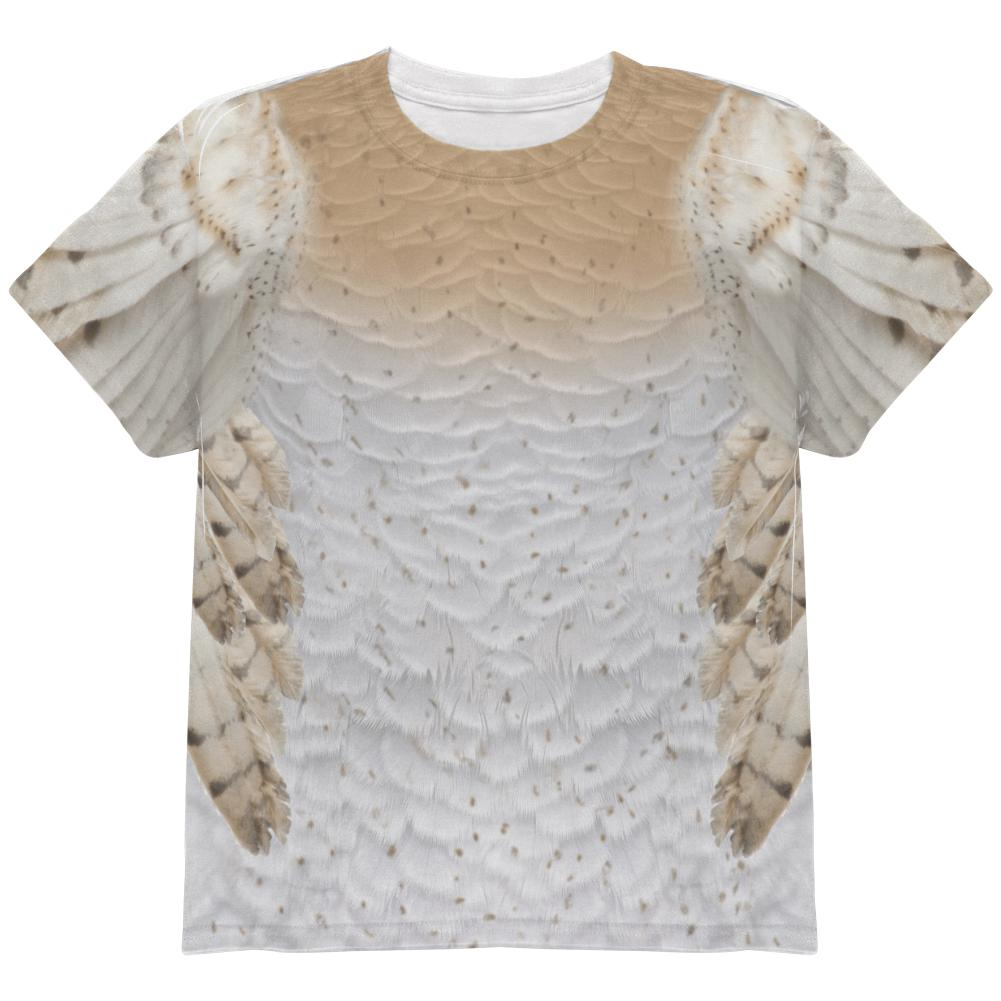 Halloween Barn Owl Costume All Over Youth T Shirt