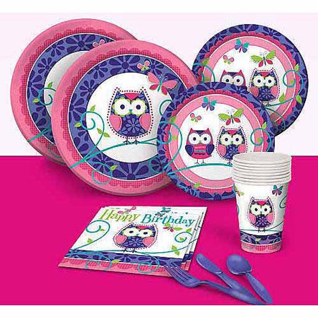 Owl Pal Birthday Party Pack - Owl Party Supplies