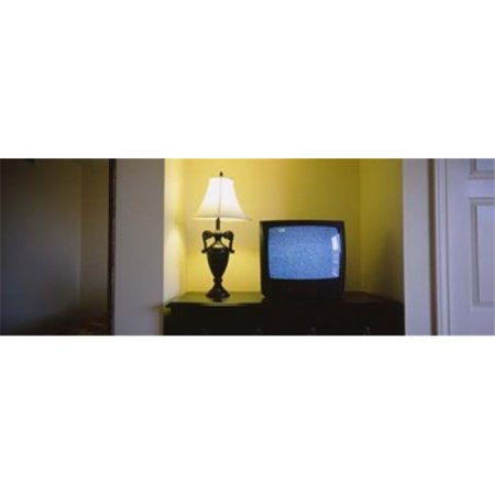 Television And Lamp In A Hotel Room Las Vegas Clark County Nevada Usa Poster Print By