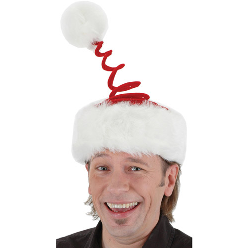 Springy Santa Hat Adult Christmas Accessory