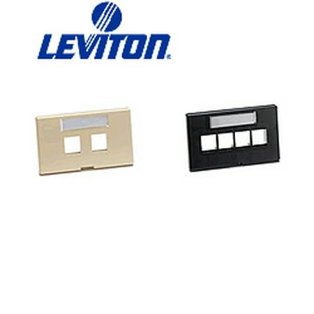 Leviton 49910-HI4 QuickPort Modular Furniture Faceplate 4-Port - (Modular Furniture Faceplate)