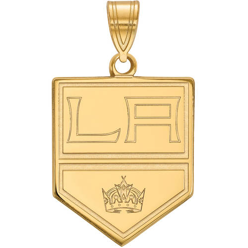 LogoArt NHL Los Angeles Kings 14kt Gold-Plated Sterling Silver Large Pendant