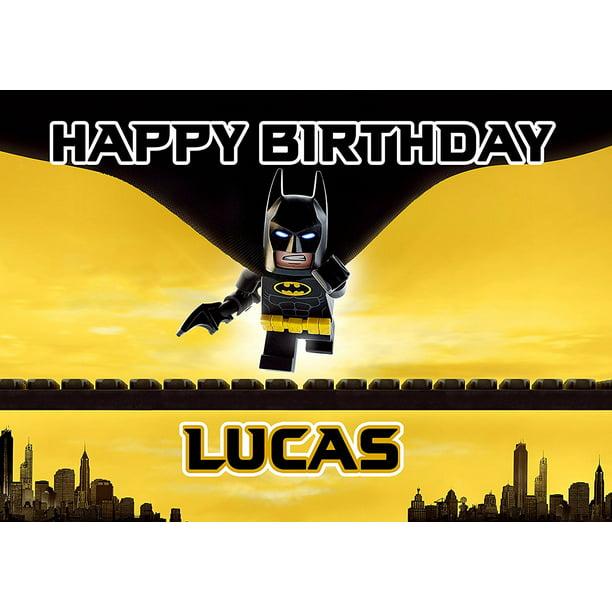 Super Lego Batman Birthday Cake Personalized Cake Topper Icing Sugar Personalised Birthday Cards Cominlily Jamesorg
