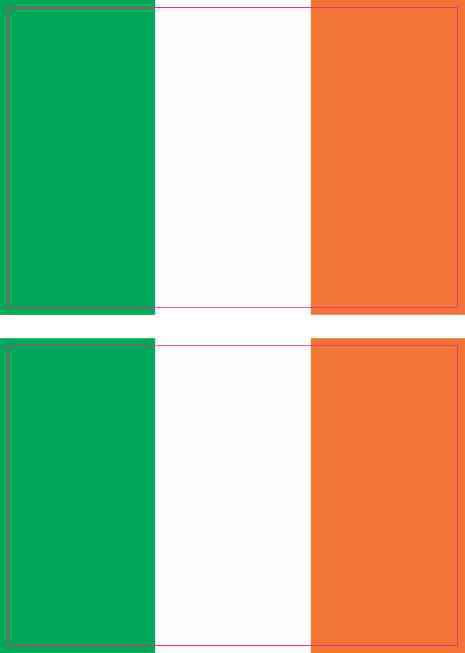3in x 2in Irish Flag Stickers by StickerTalk®