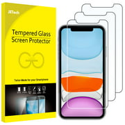 Screen Protector for iPhone 11 and iPhone XR, 6.1-Inch, Tempered Glass Film, 3-Pack