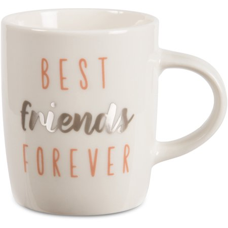 Pavilion - Best Friends Forever - Silver & Pink - 5 oz Mini Espresso Coffee