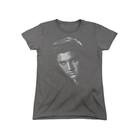 Elvis Presley The King of Rock American Idol Pining Stare Women's T-Shirt Tee