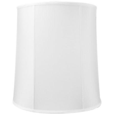 16x18x19 White Shantung Tall Drum Lampshade ()