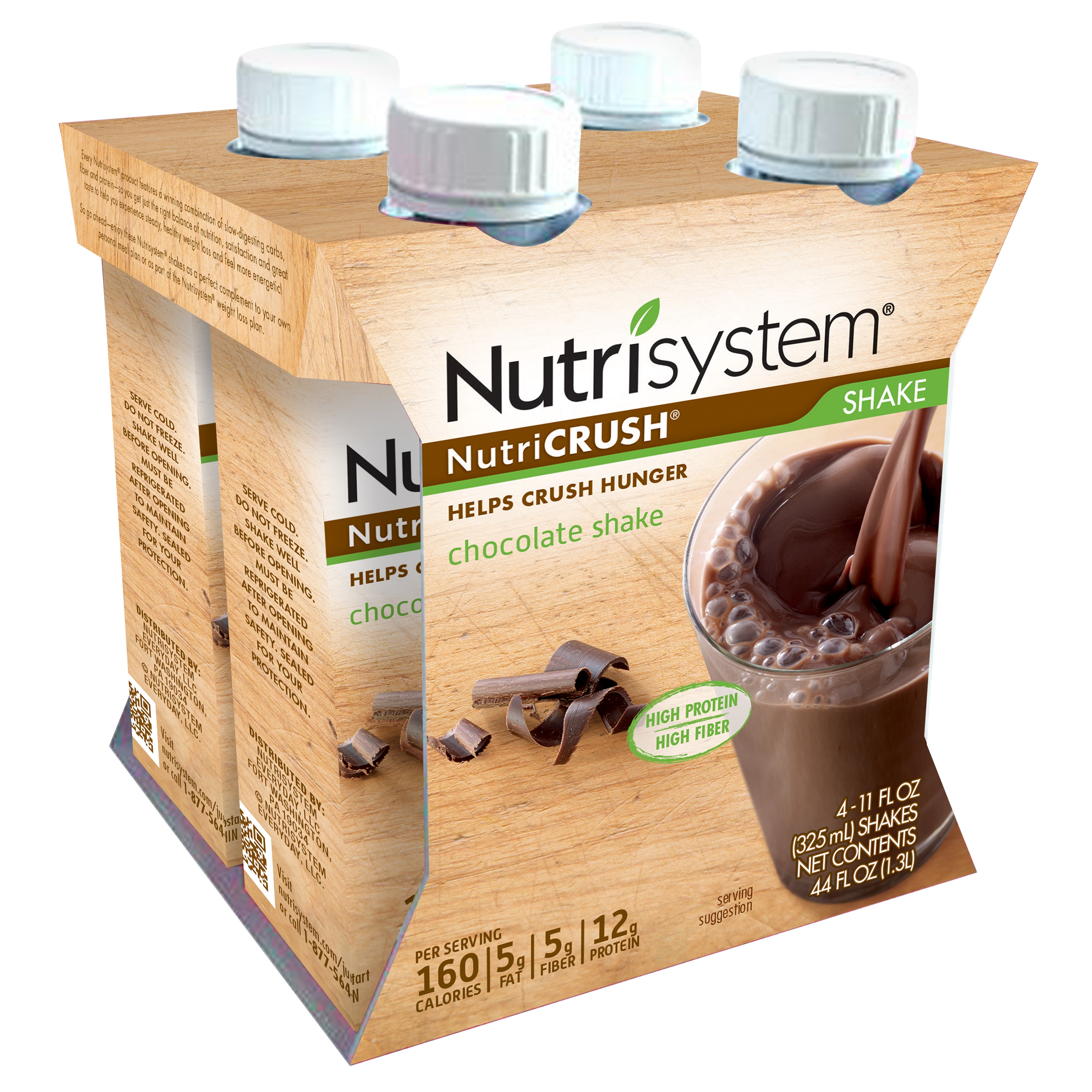Nutrisystem NutriCrush Chocolate Shake, 11 Fl Oz, 4 Ct