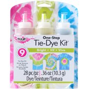Tulip One-Step Bright Tie Dye Kit - 3 Colors - Makes 9 Projects