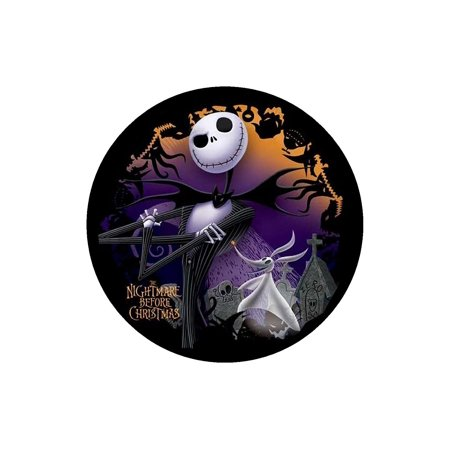 Easy Halloween Cakes Biscuits (JACK Nightmare Before Christmas ROUND Edible Image Cake topper Birthday Decoration sugar sheet Skellington sally halloween party, Easy to.., By BannedinBentonville Edible)
