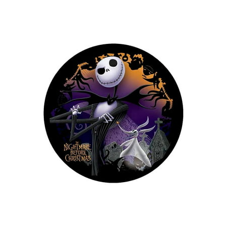 JACK Nightmare Before Christmas ROUND Edible Image Cake topper Birthday Decoration sugar sheet Skellington sally halloween party, Easy to.., By BannedinBentonville Edible images