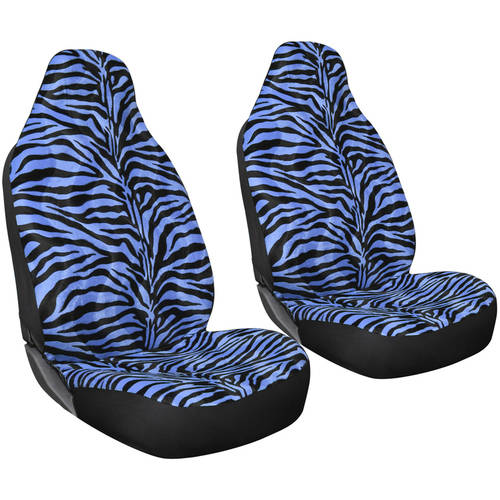 Oxgord 2-Piece Integrated Zebra Bucket Seat Covers, Universal Fit for Car/Truck/Van/SUV