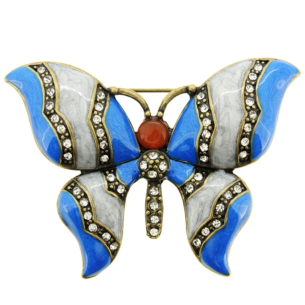 Blue Butterfly Pin Brooch by