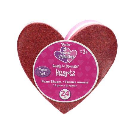 Darice Foam Base Heart Half Glitter