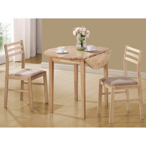 Coaster 3 piece breakfast table set natural for Table 6 brunch