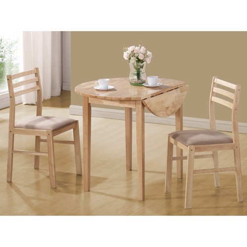 Coaster 3 Piece Breakfast Table Set, Natural