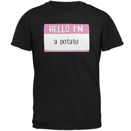 Halloween Hello I'm a Potato Mens T Shirt