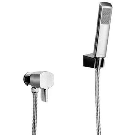 Deck Mount Diverter - Toto TS960F1L#CP Soiree Single Handle Deck Mounted Diverter and Handheld Shower System, Polished Chrome