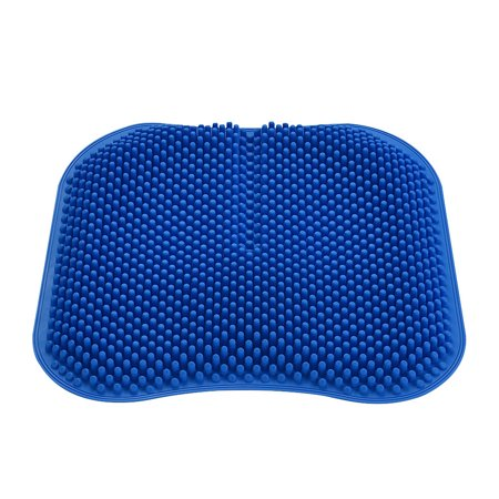 Silica Gel Car Seat Cushion Non Slip Chair Pad for Office Truck Home Breathable Silicone Massage Seat Cover 16.5 inch ()