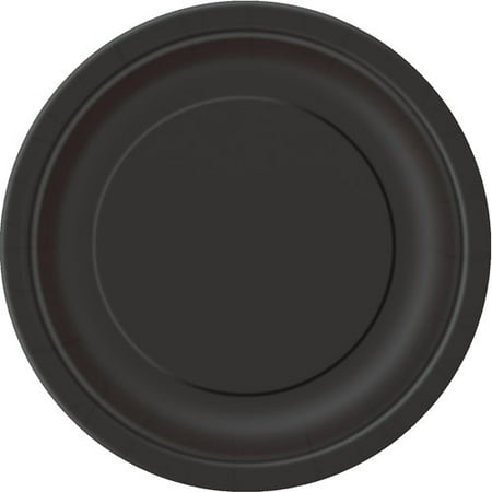 (3 Pack) Paper Plates, 7 in, Black, 24ct (Snowflake Paper Plates Clearance)