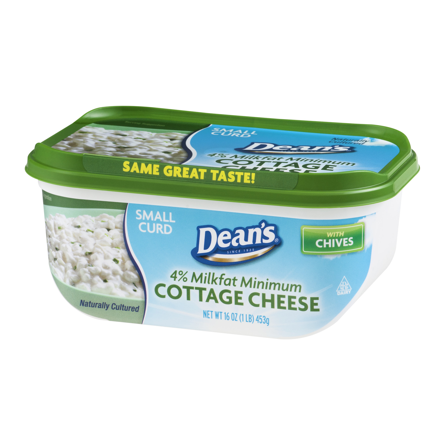dean s 4 milkfat small curd cottage cheese with chives 16 oz rh walmart com cottage cheese with chives calories cottage cheese with chives nutritional value