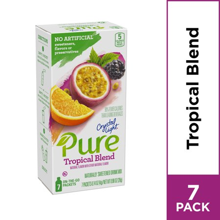 Crystal Light Pure Tropical Blend Powdered Drink Mix, 7 ct - 0.14 oz - Tropical Rum Drinks