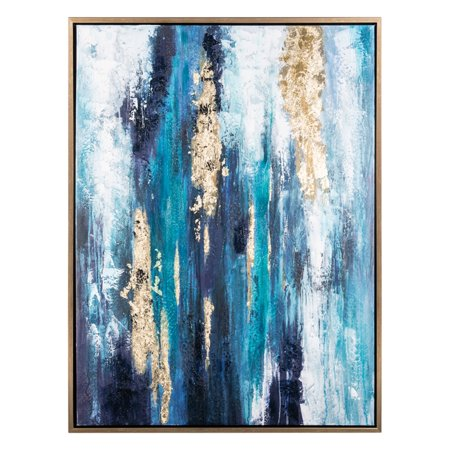 Signature Design by Ashley Dinorah Abstract Framed Canvas Wall Art ()