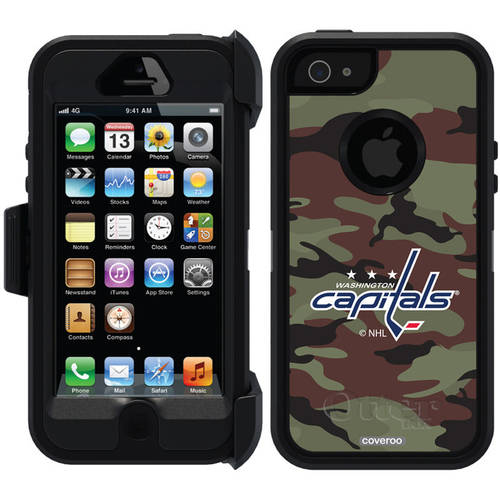 Washington Capitals Traditional Camo Design on OtterBox Defender Series Case for Apple iPhone 5/5s