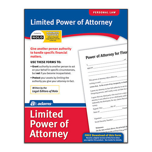 Adams Business Forms Limited Power of Attorney Forms and Instruction (Set of 6) (Set of 288)