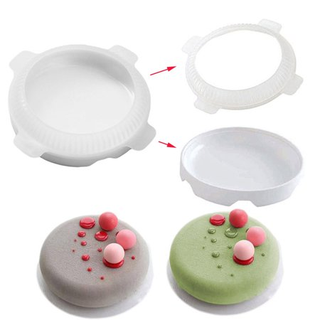 Flat Top Round Shaped Small Ball Silicone Cake Molds For Mousse Dessert (Flat Cake)